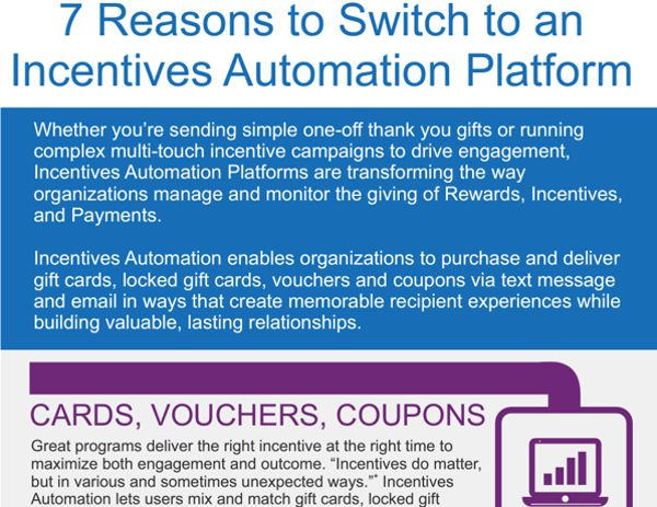 7 Reasons to switch to an Incentive Automation Platform Infographic